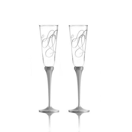 Toasting Flute Glasses, Set of 2