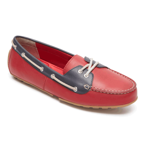 Cambridge Blvd Boat Shoe in Red