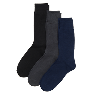 Men's Basic Cotton Socks, BLUE