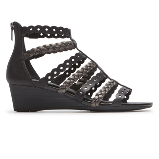 Total Motion Gladiator Sandal Comfortable Women's Shoes in Black