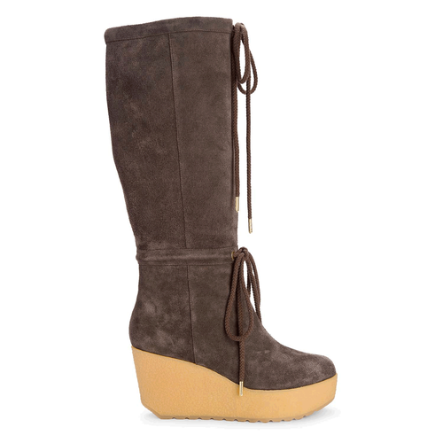 Cedra Scrunched Tall Boot in Brown
