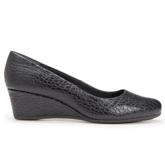 Total Motion Low Wedge, BLACK CROCO