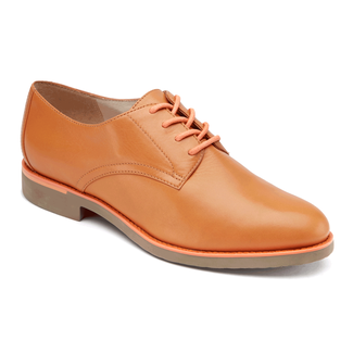 Alanda Plain Derby Women's Dress Shoes in Tan