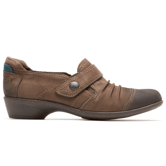 Nadine Slip On Cobb Hill by Rockport in Brown