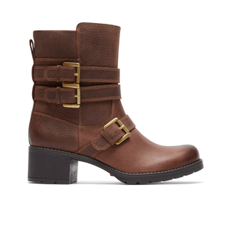 City Casuals Rola Buckle Bootie in Brown
