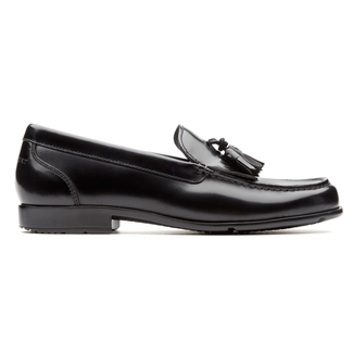 Classic Loafer Tassle - Men's Black Loafers