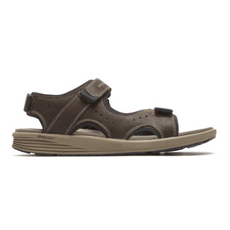 truStride Quarter Strap Sandal in Brown