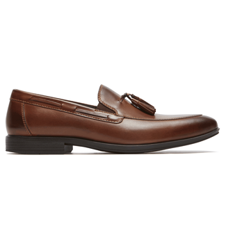 Style Connected Tassel Loafer Comfortable Men's Shoes in Brown
