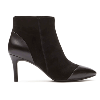 Total Motion Pointed Toe Angle Bootie in Black