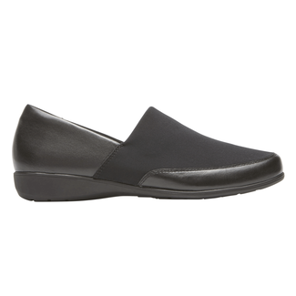 Abbey A Line Slip-On, BLACK