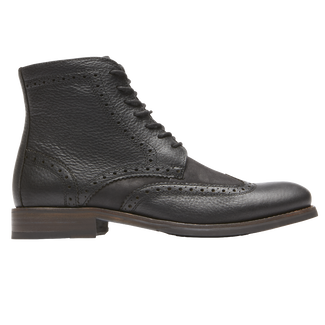 Wyat Wingtip Boot, BLACK