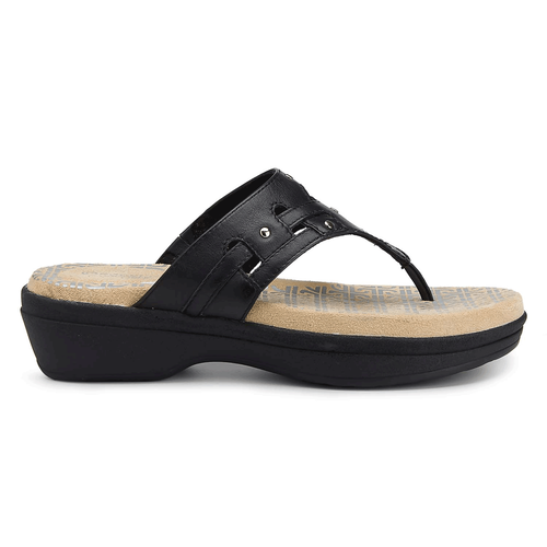 Fanessa Rivet Thong Slide Women's Sandals in Black