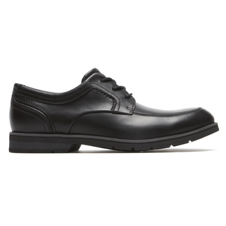 Statford Apron Toe  Comfortable Men's Shoes in Black