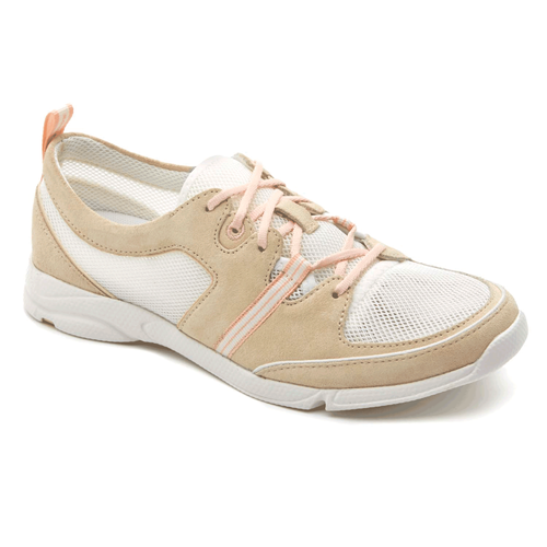 Cycle Motion Lace Up Women's Walking Shoes in White