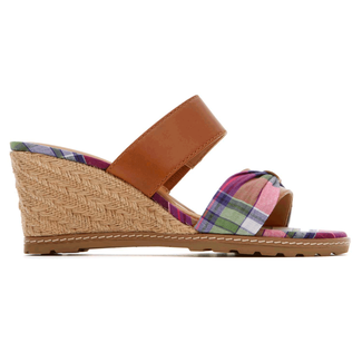 Garden Court Perf Slide Sandal in Pink