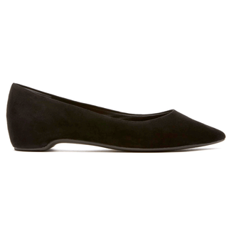 Total Motion Hidden Wedge Ballet Flat in Black