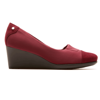 Total Motion Cap Toe Wedge Women's Wedges in Red