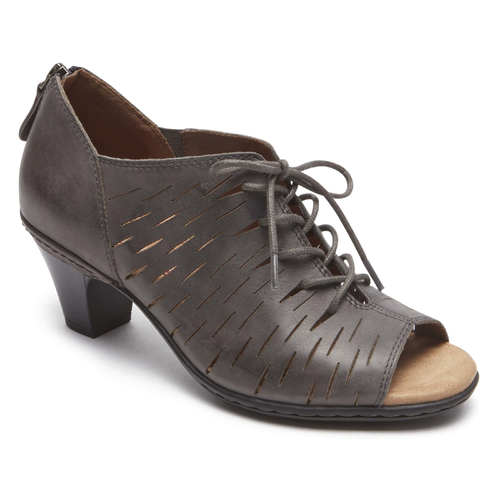 Cobb Hill Spencer Perf Lace Up, DARK GREY
