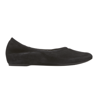 Total Motion Ruch Slip On , BLACK SUEDE