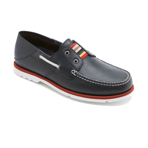 Summer Tour 2 Eye Slip Men's Boat Shoes in Navy