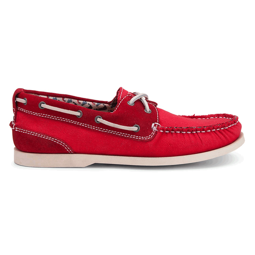 Coastal Springs 2 Eye Boat Men's Boat Shoes in Red