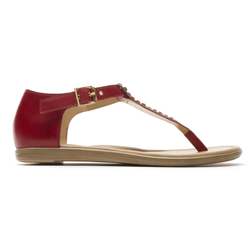 Jeanie Stud Thong - Women's Red Sandals