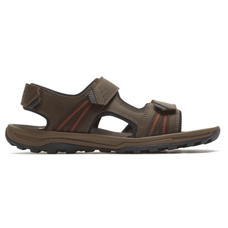 Trail Technique 3 Strap Sandal Comfortable Men's Shoes in Brown