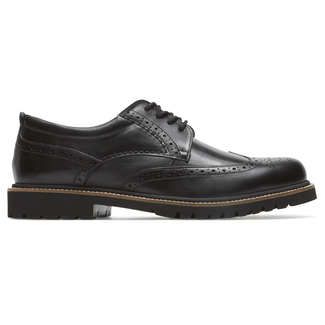 Marshall Wingtip Comfortable Men's Shoes in Black