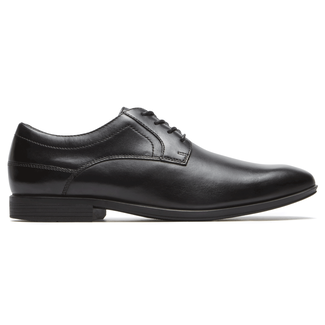 Style Connected Plain Toe  Comfortable Men's Shoes in Black