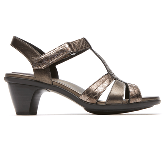 Medici Mary T-Strap Sandal in Grey