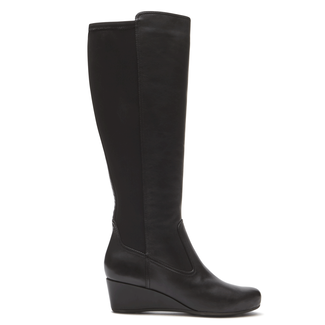 Total Motion Wedge Tall Boot, BLACK SOFT