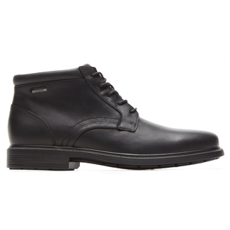 DresSports Luxe WP Plaintoe ChukkaRockport Men's Black DresSports Luxe WP Plaintoe Chukka