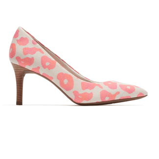 Total Motion Pointed Toe PumpRockport Women's Pink Leopard Total Motion Pointed Toe Pump