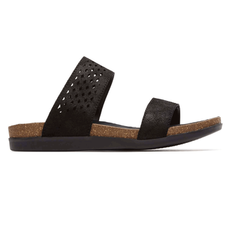 Rockport Women's Black Total Motion Perf Slide Sandal