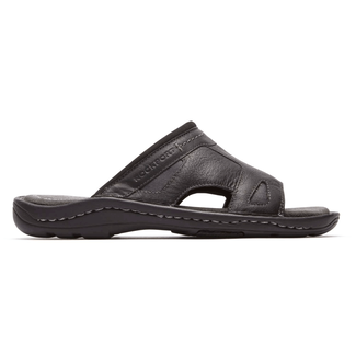 Kevka Lake One Band SandalRockport Men's Black Kevka Lake One Band Sandal