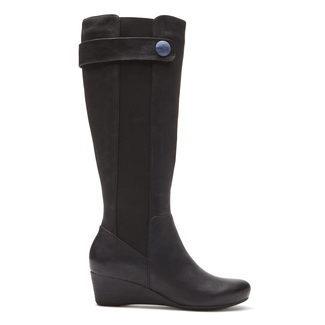 Total Motion Stone Tall Boot in Black
