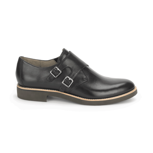 Alanda Monk Strap, Women's Black Dress Casual Shoes