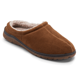 Genuine Suede Clog Slipper - Men's Tan Slippers