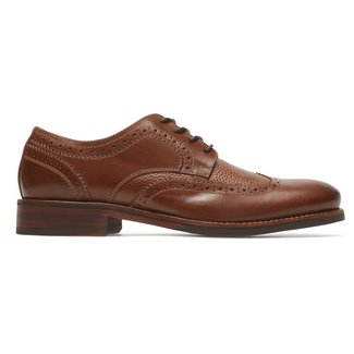 Wyat Wing Tip Oxford, COGNAC LE