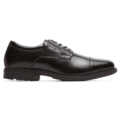 Essential Details Waterproof Cap Toe Men's Dress Shoes in Black
