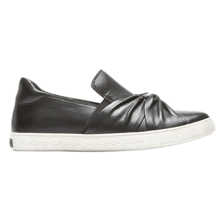 Cobb Hill Willa Bow Slip-On, BLACK LTHR