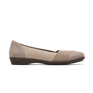 Rockport Women's Tan Total Motion Nea Gore Slipon