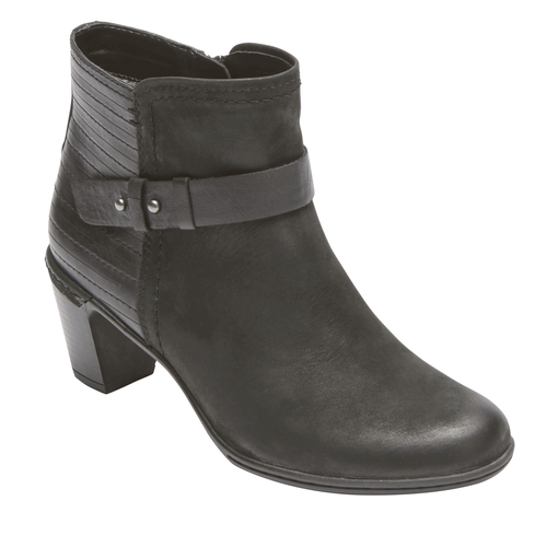 Cobb Hill Rashel Buckle Bootie, BLACK NBK