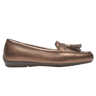 Total Motion Driving Tassle Moc, BRONZO PEARL PATENT