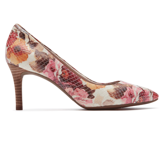 Total Motion Pointed Toe PumpRockport Women's Pink Floral Total Motion Pointed Toe Pump