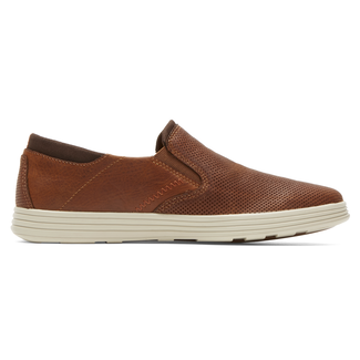 Colchester Slip -On Extended Size Men's Shoes in Brown