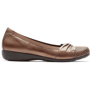 Abbey Andrea Flat in Brown