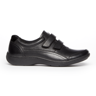 Bromly Double Strap Sneaker , BLACK LEATHER