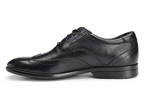 Business Lite Wingtip - Men's Black Dress Shoes