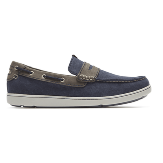 Gryffen Mudguard Slip-On Comfortable Men's Shoes in Navy